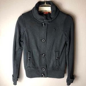 3 FOR $15 Puma Black Button Up Jacket